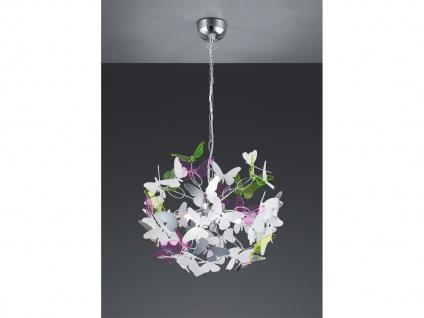 Verspielte Pendellampe Ø50cm mit bunten Acrylglas Schmetterlingen für Esstisch