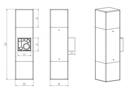 LED Außenwandlampen Anthrazit 2er SET Außenleuchte Terrassenbeleuchtung Hauswand - Vorschau 3