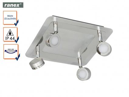 LED Badleuchte Deckenlampe schwenkbarer Deckspot 4flammig, Badbeleuchtung IP44
