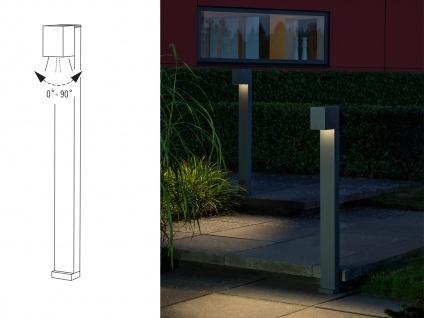 2er SET LED Wegeleuchte aus ALU in anthrazit für außen H100cm Lichtstrahl 0°-90° - Vorschau 5