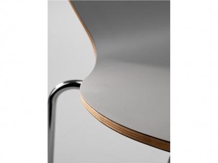 Design Stuhl HEART in grau, Stapelstuhl Esszimmerstuhl Bistrostuhl Schalenstuhl - Vorschau 5