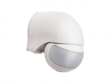 Aufputz Bewegungsmelder, weiß 12m/200°, Lux und Zeitintervall einstellbar, IP44 - Vorschau 2