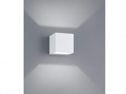 LED Gehwegleuchte weiß 8x8cm up & down Lichtstrahl einstellbar Wandlampe außen