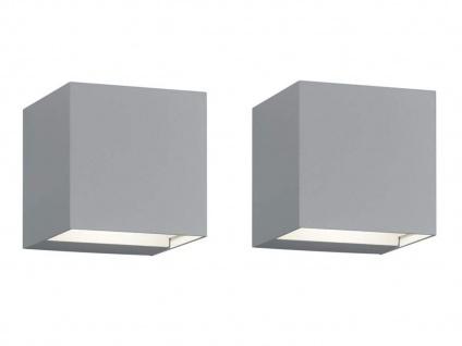 LED Gehwegleuchten titan 2er SET up&down Lichtstrahl einstellbar Wandlampe außen