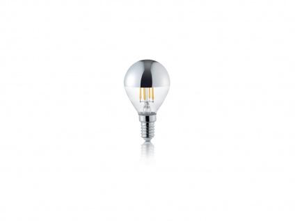 LED Leuchtmittel mit E14 Fassung, 4W, 420lm in Warmweiß, Glas transparent farbig