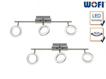 2x LED Deckenstrahler Nickel matt 3 drehbare Spots Deckenbeleuchtung Bürolampe