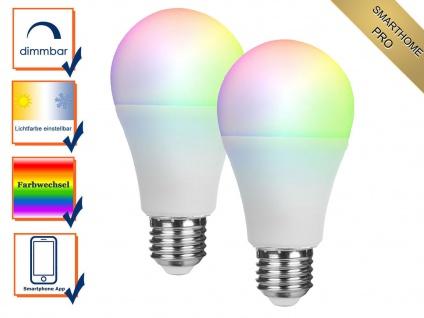 2er Set ZUSATZ intelligente E27 LED Birnen Smarthome PRO - dimmbar & Farbwechsel