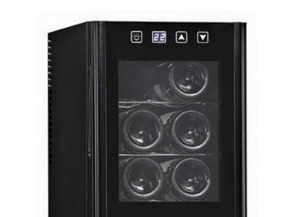Profi Weinklimaschrank 12 Flaschen 2 Temperatur Zonen 7-18°C Weinkühlschränke - Vorschau 3