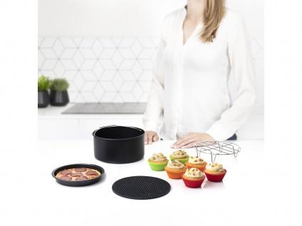 Fritteuse Zubehör-Set Topfablage Pizzablech Kuchenform Grillrost Muffinschälchen