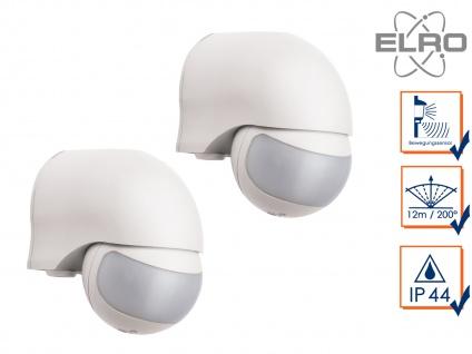 2er Set Aufputz Bewegungsmelder, weiß 12m/200° Lux und Zeitintervall einstellbar