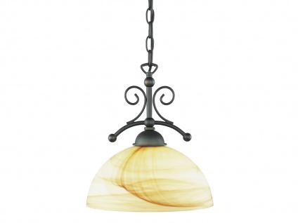 1-fl. Hängelampe, Landhausstil, Glas marmoriert, Wofi-Leuchten