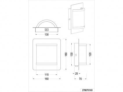 Elegantes Wandleuchten 2er Set mit Schalter & LED Messing matt/weiß Innenlampen - Vorschau 5