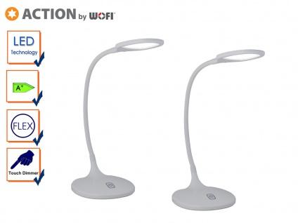 2er Set LED Schreibtischleuchte, Dimmer, Flexarm, Tischlampe LED Tischleuchte