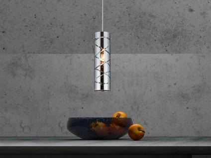 Zeitlose Pendelleuchte 1 flammig aus Metall in Chrom mit Rauchglas für Esszimmer - Vorschau 5