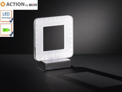 LED Tischleuchte, Tischlampe modern, Chrom / Acryl, Action by Wofi