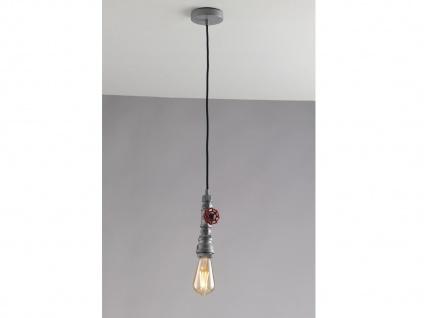 1 flammige LED Pendelleuchte Hängelampe Industrielook mit Wasserrohr Zink antik