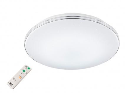 Dimmbare LED Deckenlampe rund 45, 5cm mit Farbwechsel Fernbedienung Sternenhimmel
