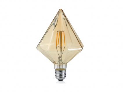 Kristalförmiges LED Leuchtmittel mit E27 Fassung 4W & 320Lm in Warmweiß, aus Glas