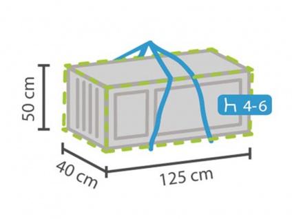 Schutzhülle für Gartenpolster, 125x40x50cm, passend für 4-6 Kissen, UV beständig