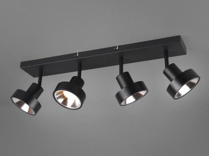 RETRO Deckenstrahler 4-flammig Schwarz Beleuchtung Flur, Diele und Treppenhaus