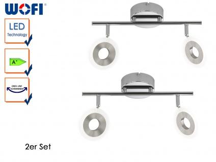 2er Set 2-flammige Deckenlampe DIVINA, Deckenleuchte Deckenbalken Spotleiste LED