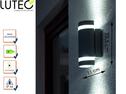 LED Außenwandleuchte Aluguss IP44 Höhe 23, 5 cm Fassadenbeleuchtung Wandleuchte