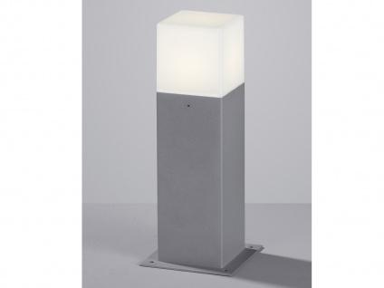 Moderne LED Sockelleuchte in Hell Grau 30cm - Wegeleuchten Terrassenbeleuchtung