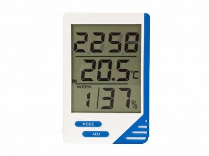 Digitalthermometer mit Hygrometer, Thermometer Innen Außen Innenfeuchte Wohnung - Vorschau 2
