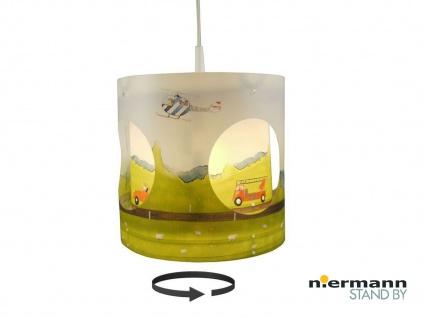 Kinder Pendelleuchte AUTOMOBILE drehend Lampenschirm Kinderzimmer Lampe Decke