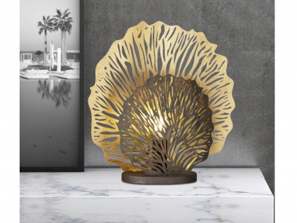 LED Tischleuchte 51cm in gold rost - Tischlampe für Beleuchtung Flur & Wohnraum