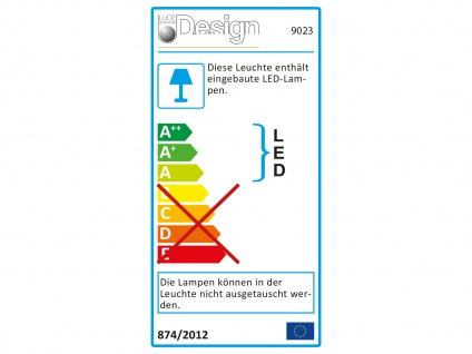 Angesagte LED Innenlampe für Wand und Decke mit Spiegel Design Silber rund 50cm - Vorschau 3