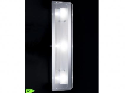 Wandleuchte modern, Chrom, Glas klar und satiniert, Wandlampe Honsel-Leuchten