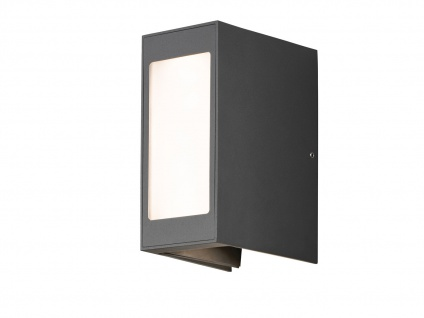 2er Set LED Außenwandleuchte Alu anthrazit IP54 Außenleuchten Wegeleuchten - Vorschau 3