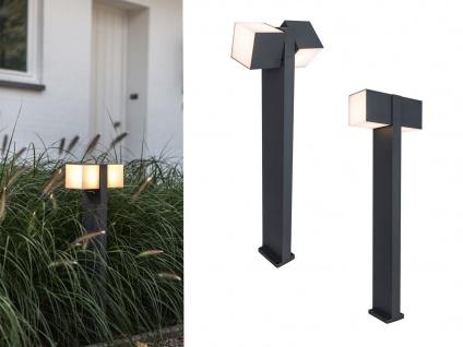 Hochwertige Outdoor Stehlampen SET 2 drehbare LED Wegleuchten ALU Anthrazit IP54
