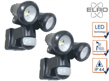 2er Set LED Sicherheitsleuchte 12 Meter Bewegungsmelder 20W Wandleuchte außen