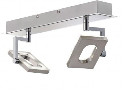Dimmbare LED-Deckenleuchte 40cm lang, Spots schwenkbar, Fischer-Leuchten