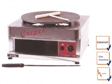 Profi Crepe Eisen Crepeseisen Crepemaker Crepesplatte Gasanschluss 3, 6kW