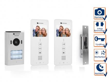 Set: 2 Familienhaus Videotürsprechanlage mit Türöffner und Kamera, Klingelanlage