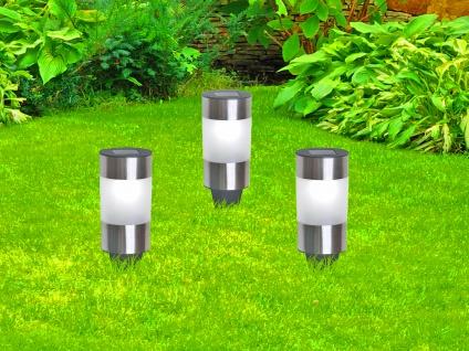 Solarbetriebene Gartenleuchten für draußen - LED Außenleuchten im 3er SET, IP44