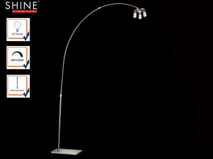 Bogenlampe dimmbar u. höhenverstellbar, Gestell für Schirme SHINE LOFT MODULAR