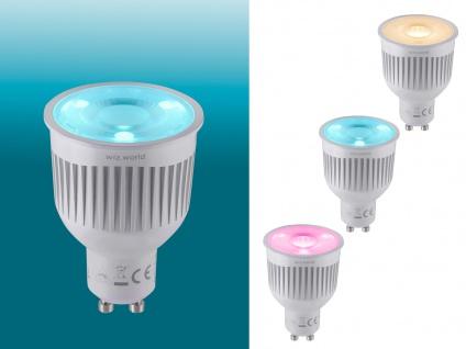 RGBW WiZ LED Leuchtmittel mit GU10 Sockel 6 Watt, Sprachsteuerung, Fernbedienung