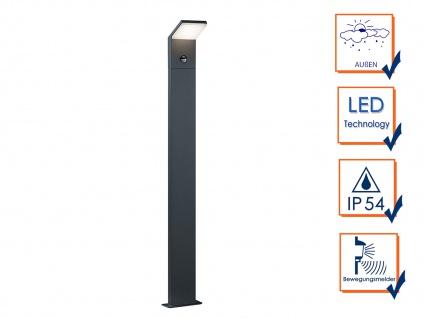 LED Pollerleuchte mit Sensor in Anthrazit 100cm - 2er Set Terrassenbeleuchtung - Vorschau 2