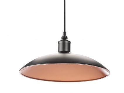 Hängelampe 32cm Industrie Look mit Filament LED, Metall schwarz bronze, Pendel - Vorschau 2