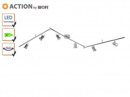 6-flg. LED Deckenlampe / Strahler Chrom, schwenkbar, Action by Wofi