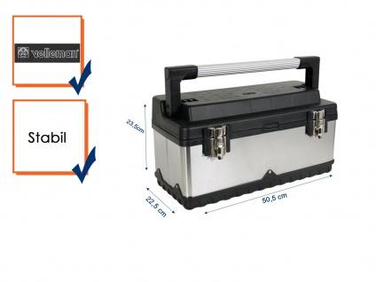 Werkzeugkasten Werkzeugbox rostfreier Stahl 50, 5 x 23, 5 x 22, 5 cm