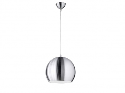 LED Pendelleuchte 1 flammig Metall Lampenschirm in Silber für Esszimmertisch