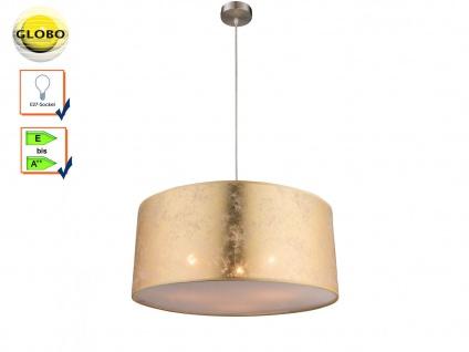 Globo Hängelampe AMY 53cm Lampenschirm Stoff gold, Pendelleuchte Lampe Esstisch