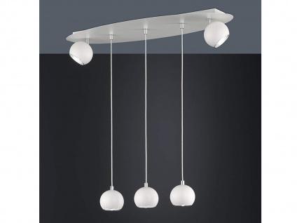 Grosse LED Hängeleuchte bis 150cm höhenverstellbar, 2 dreh+schwenkbare Spots - Vorschau 2