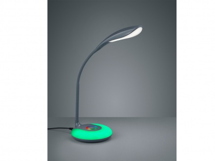 Flexible Schreibtischleuchte KRAIT Touch Dimmer, USB Anschluß + RGB Farbwechsler
