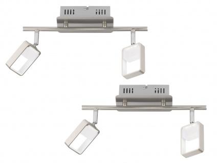 Dimmbares LED Deckenstrahler 2er Set mit zwei schwenkbaren Spots, Deckenleuchten